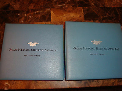 Franklin Mint- Great Historic Sites of America Sterling Silver 50 Coins-2 Albums