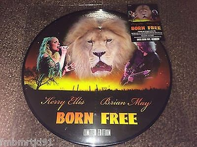 "Brian May Kerry Ellis- Born Free 12"" Picture Disc Numbered Limited Edition Queen"