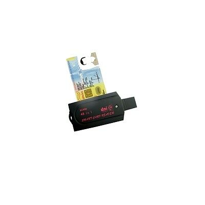 Neuf SCR80 Lector DNI-E ISO7816 USB 2.0 3.0 Smart Card Reader 40 in 1 SD