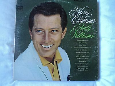 Merry Christmas - andy williams LP, 1966 CBS~CS 9220 US import ~ EX / VG
