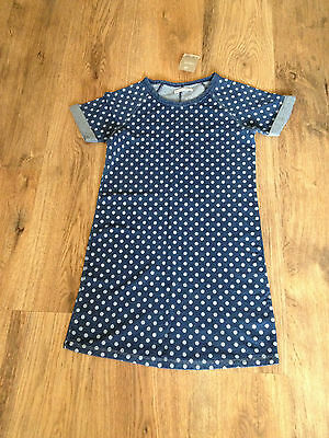 ++   Beautiful Next Girls  Navy Spotted Top/Dress Age 10++