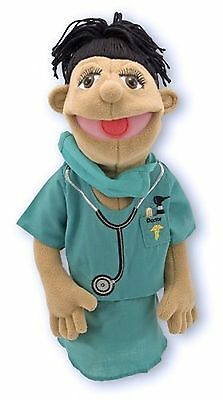 Melissa & Doug Surgeon Puppet With Doctor Scrubs and Detachable Wooden Rod fo...