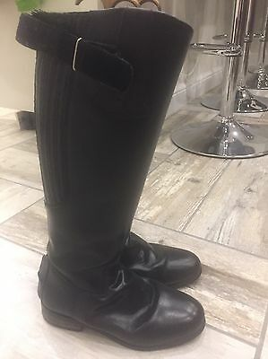 Long Black Leather Riding boots - Gallop - size 5 (38) Wide Fitting
