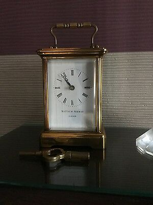 Matthew Norman of London 11 jewels carriage clock with key