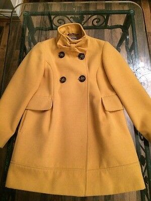 Girls Marigold Coloured Coat Age 9-10 Years By Next