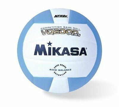 Mikasa Micro Cell Volleyball (Columbia Blue/White )