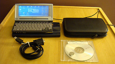 HP Jornada 728 Handheld PC Laptop Cord Docking Station Leather Case Sync Cable