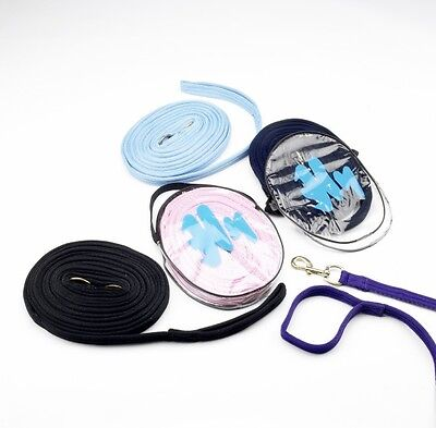 Hy Soft Webbing Lunge Rein - Teal/Navy - 25' - Horse Equestrian Lunge Lines
