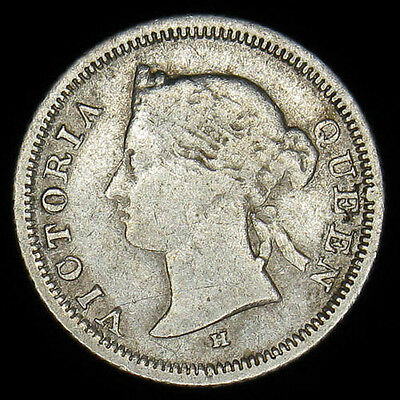 1882H Hong Kong 5 Cents silver