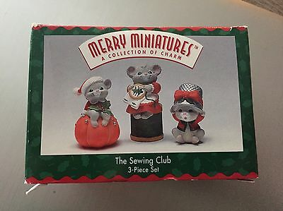 Hallmark Merry Miniatures The Sewing Club