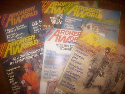 vintage bowhunting magazine, 1978 ARCHERY WORLD ...full year...6 issues