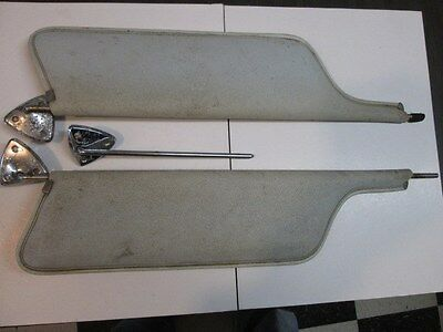 Pair of Early (65-68??)  Mustang Sunvisors with brackets plus a extra bracket