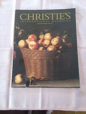 Collectible Antiques Christie Magazine Jan 97 JUAN ZURBARAN Gilt bronze horse