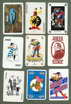 Great selection of jokers from playing cards  #273