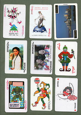 Great selection of jokers from playing cards  #293