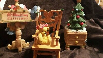 1999 ENESCO CHERISHED TEDDIES *Old Fashioned Christmas Accessories*