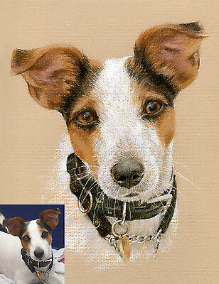 COMMISSION A PET PORTRAIT. Custom pastel painting/drawing from photo. dog / cat