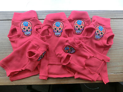 kitten RED SKULL fleece coat Sphynx cat clothes Katzenbekleidung,  pet clothes