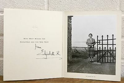 Signed Autograph -Elizabeth Royal, Queen Mother- Castle Of Mey Christmas Card