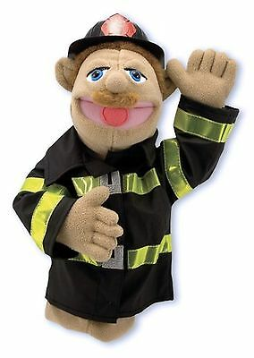 Melissa & Doug Firefighter Puppet With Detachable Wooden Rod for Animated Ges...