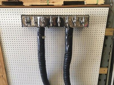 8 Faucet Dual Column Air Cooled Beer Tower, Used