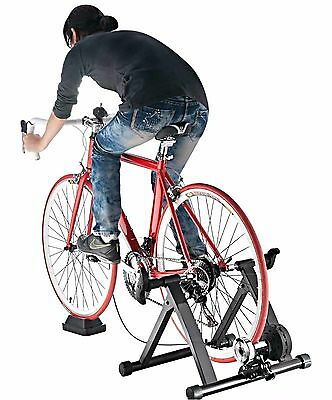 Indoor Exercise Trainer Bicycle Magnetic 5 Level Resistance Portable Stand New