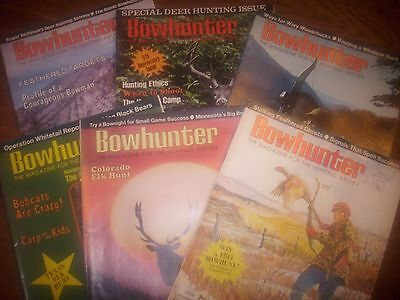vintage bowhunting magazine, 1976 Bowhunter ...full year...6 issues
