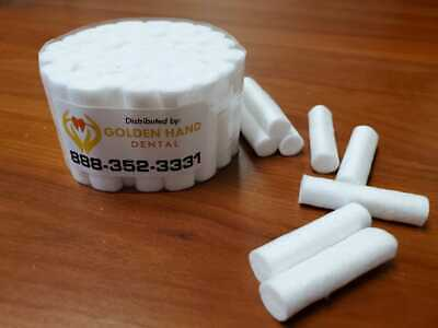 50 pcs Dental COTTON ROLLS #2 MEDIUM - US SELLER