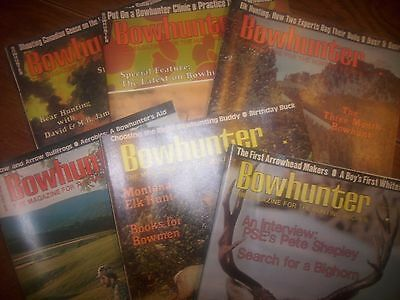 vintage bowhunting magazine, 1978 Bowhunter ...full year...6 issues