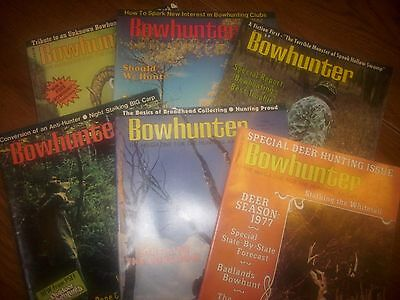 vintage bowhunting magazine, 1977 Bowhunter ...full year...6 issues