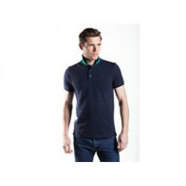 Townend Brucester Polo Shirt - Navy/Emerald Green - X Large - Horse Shirts