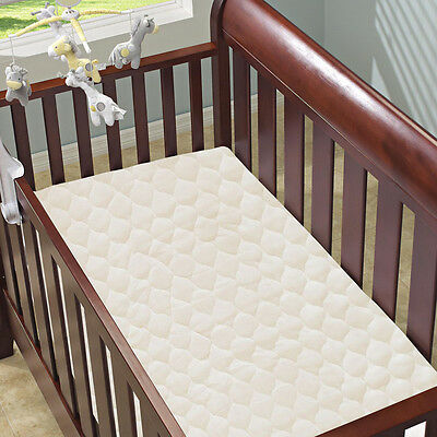 Bellrose Kids Organic Cotton Quilted Crib & Toddler Bed Mattress Pad Cover 28x52