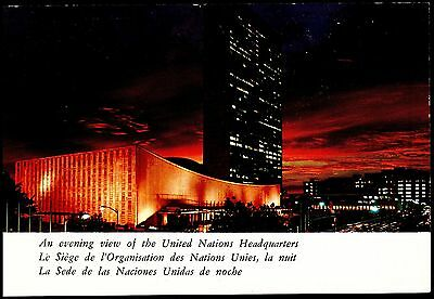 Evening View - United Nations Headquarters New York Posted