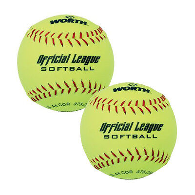 Worth Official League YWCS12 Softball (2 Pack)