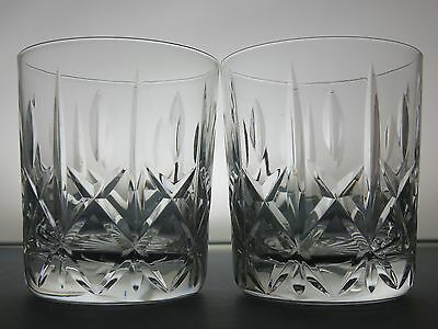 "Royal Brierley Crystal ""regent"" Pattern  Whisky Tumblers/glasses Set Of 2"