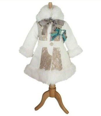 Little Darlings Cream Coat And Matching Hat