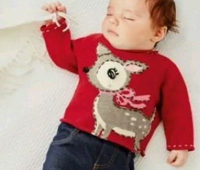 Baby girls multi christmas jumper age 3 6 months next 163 5 19
