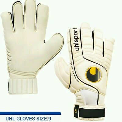 Goalkeeper Goalie Roll Finger Saver Gloves Size 9