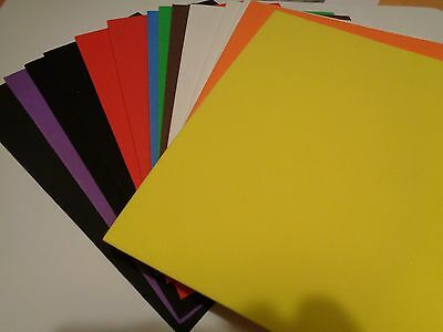 Foam rubber sheets (A5 size) for crafting. (14 pieces, assorted colours)