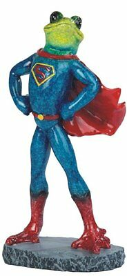 8.25 Inch Frog in Superman Costume Figurine