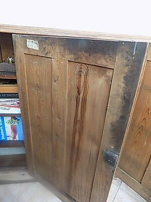 """Large Victorian Pine cupboard free standing 87"""" long"""