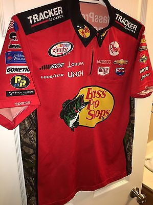 LG 2016 TY DILLON BASS PRO TRACKER BOATS NASCAR RCR Crew Shirt Chevy FISHING RCR