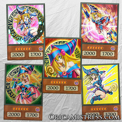Yu-Gi-Oh! Custom Anime Orica - DARK MAGICIAN GIRL - 5 Card Set
