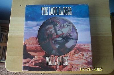 """Retired Vandor The Lone Ranger  Hi Ho Silver 8"""" Wall Clock New in the Box  LOOK"""