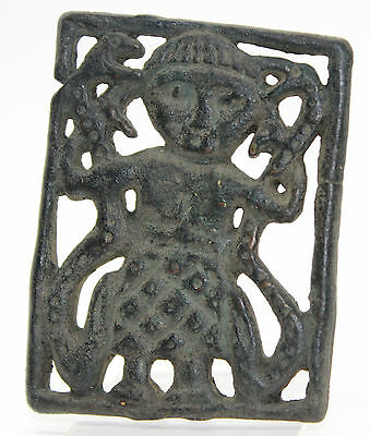 Viking,Scandinavian Bronze Application,ornament-Valkyrie with snakes 900 AD