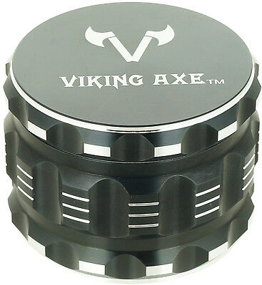 "2.375""VIKING AXE Black 4 Piece Grinder Gift Box GV003 -Holiday Limited"