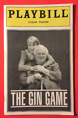 GIN GAME Playbill w/ Julie Harris, Charles Durning (June 1997)