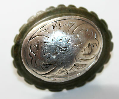 MEDIEVAL   BRONZE AND SILVER Application 1300-1400 AD