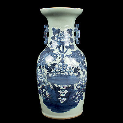 China 19. Jh. - A Chinese Canton Export Baluster Vase - Qing Chinois Vaso Cinese