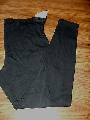 Leading Lady XL black cotton blend stretchy maternity panties/leggings style#401